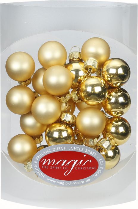 Joulukuusenpallo 2 cm 25 kpl kulta