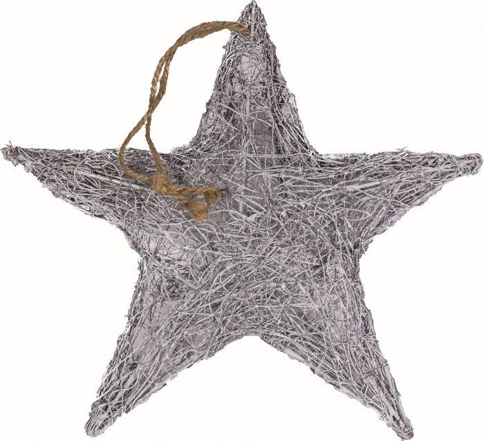 Joulukoriste tähti harmaa 30 cm