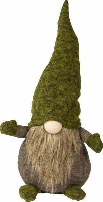 Joulukoriste partatonttu vihreä 53 cm