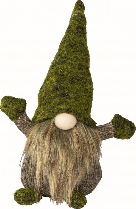 Joulukoriste partatonttu vihreä 25 cm