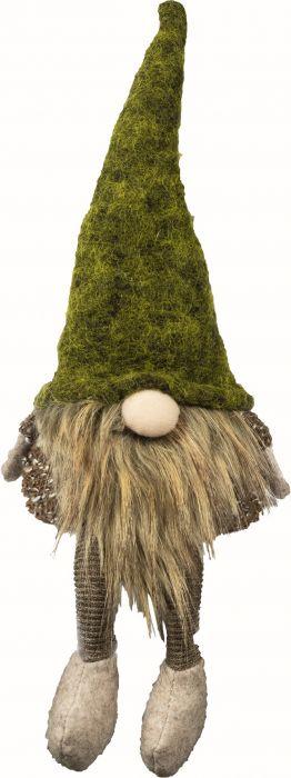 Joulukoriste partatonttu vihreä 30 cm