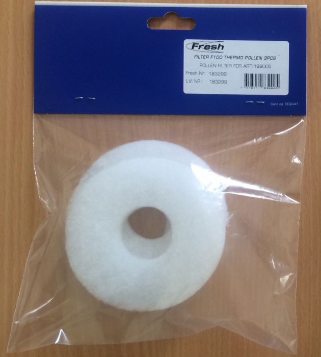 Siitepölysuodatin Fresh F100 Thermo 3kpl /pss