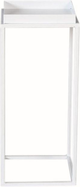 Kukkapöytä valkoinen 22 x 22 x 52 cm