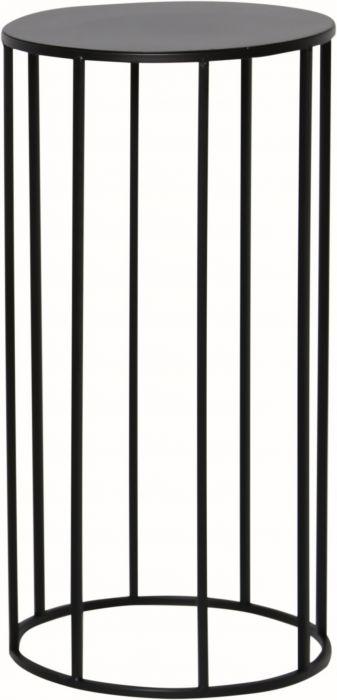 Kukkapöytä pyöreä musta 25 x 25 x 50 cm