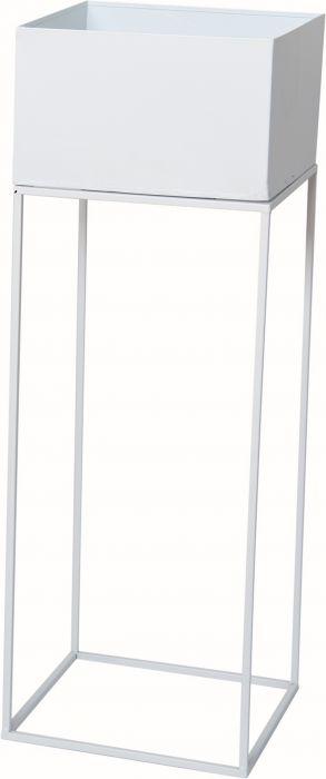 Kukkateline valkoinen 25 x 25 x 72 cm