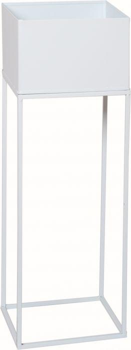 Kukkateline valkoinen 20 x 20 x 60 cm