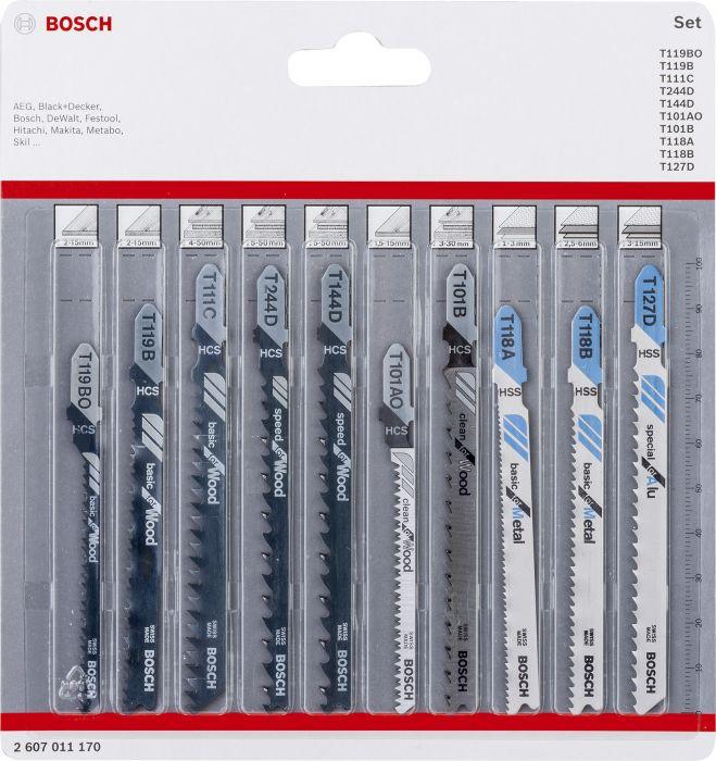 Pistosahanterä Bosch 10-os. Puu + Metalli