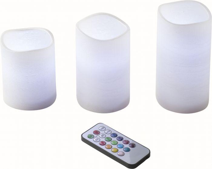 LED-kynttilä ryhmä Airam Xena 3 kpl