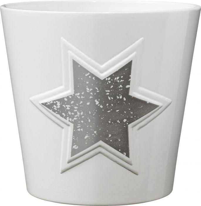 Suojaruukku Magic Stars 14 cm hopea