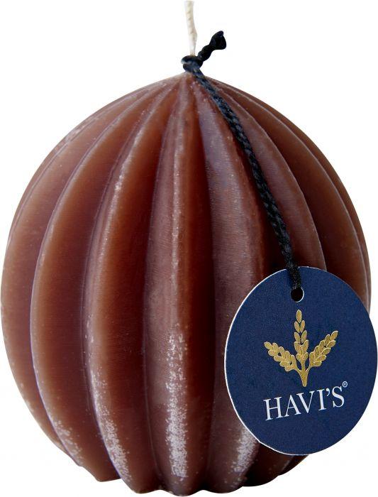 Vekkipallokynttilä Havi's 8,5 cm ruskea