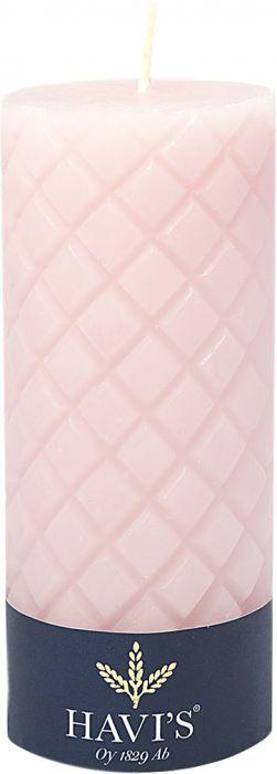 Kuviopöytäkynttilä Havi's 7 x 15 cm roosa