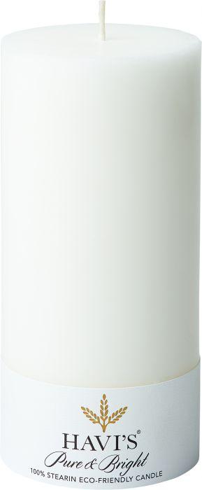 Pöytäkynttilä Havi's Pure&Bright 7 x 15 cm valkoinen