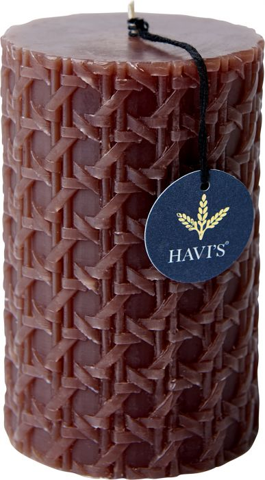 Pöytäkynttilä Havi's Rattan 8 x 12,5 cm ruskea