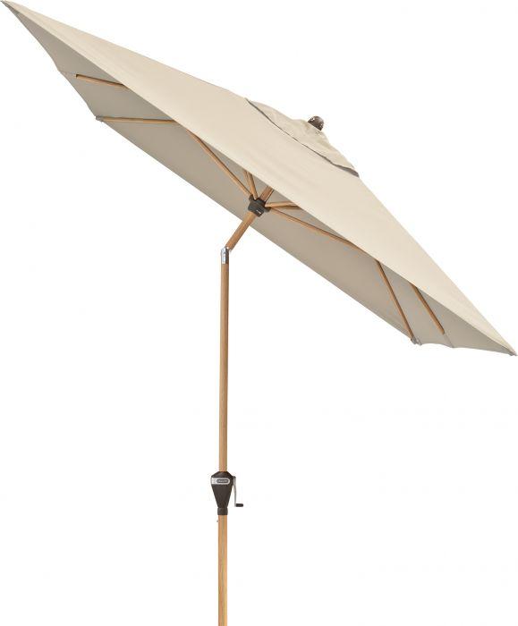 Aurinkovarjo Doppler AluWood luonnonvalkoinen