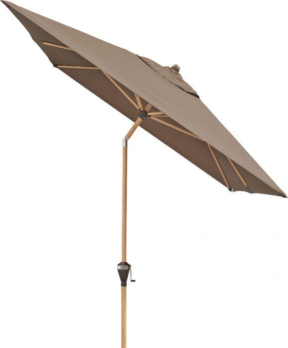 Aurinkovarjo Doppler AluWood ruskea