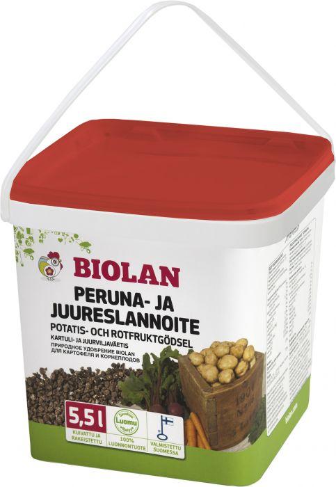 Peruna- ja juureslannoite Biolan 5,5 l