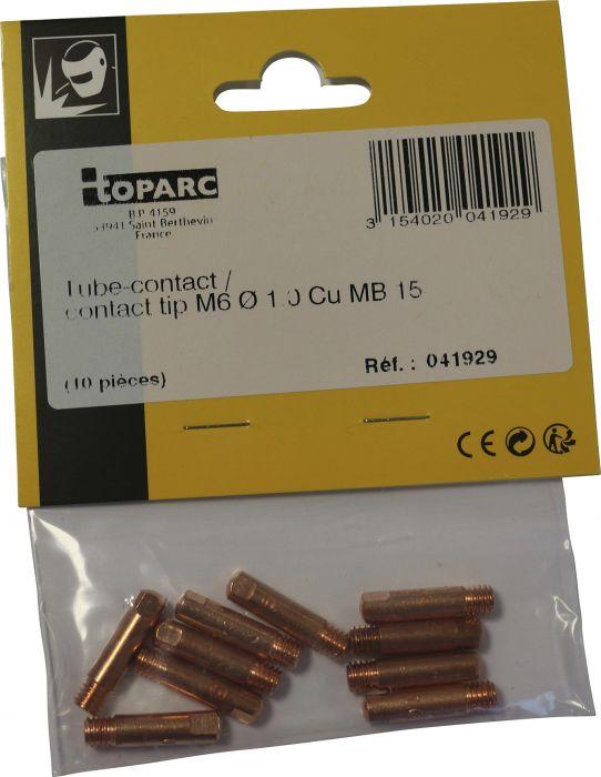 Kosketusputki Toparc 1 mm 150 A 10 kpl