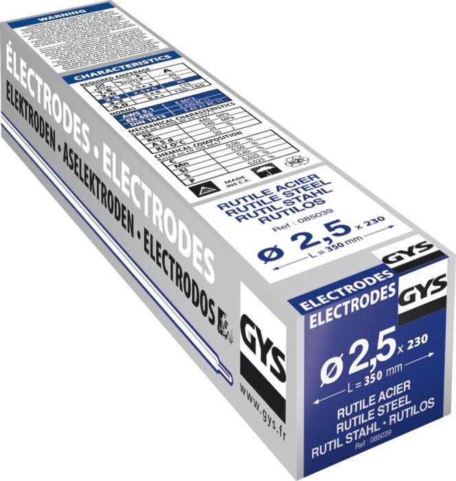Rutiilipäällysteinen hitsauspuikko Gys 2,5 mm 230 kpl