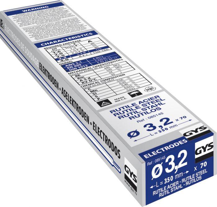 Rutiilipäällysteinen hitsauspuikko Gys 3,2 mm 70 kpl