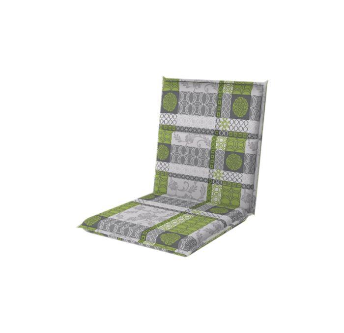 Istuinpehmuste Doppler Spirit vihreäharmaa kuvioitu 100 x 48 cm