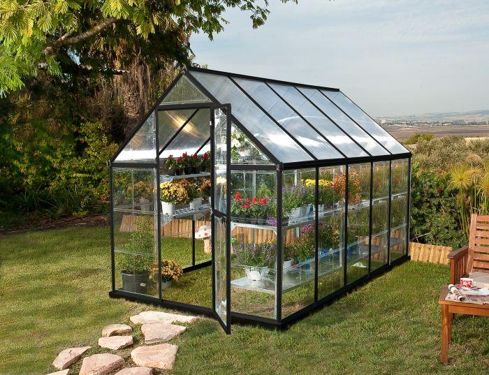 Kasvihuone Palram Hybrid 5,6 m² (185 x 305 cm) harmaa