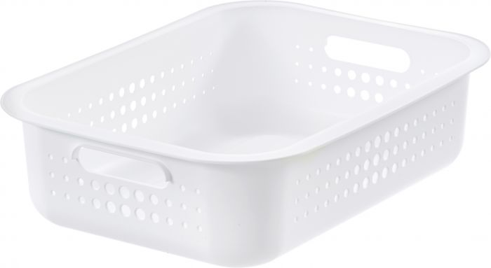 Säilytyskori SmartStore Basket Recycled 10 Valkoinen 37 x 28 x 10 cm