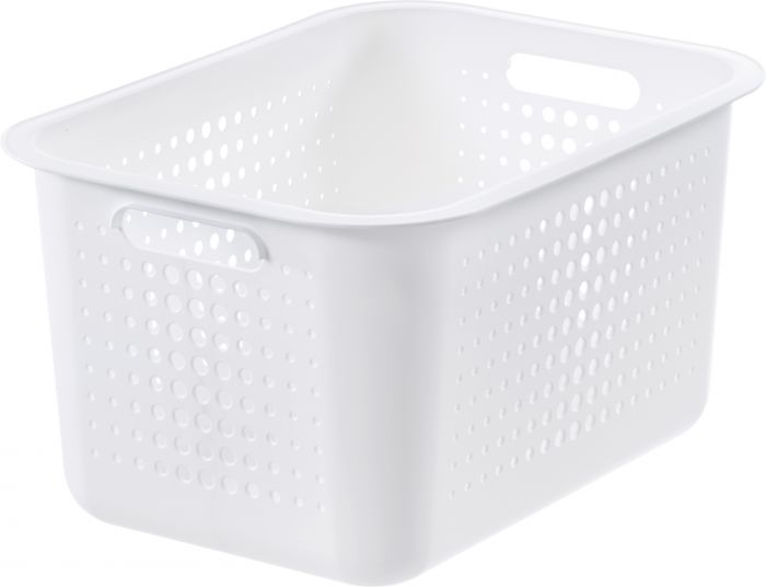 Säilytyskori SmartStore Basket Recycled 20 Valkoinen 37 x 28 x 20 cm