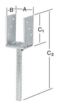 Säädettävä Pilarikenkä Vormann 315 mm