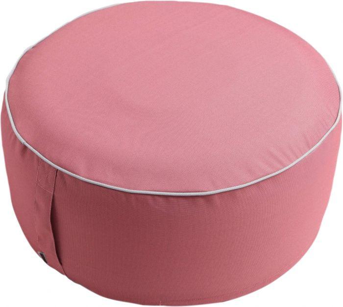 Istuinrahi Puff pyöreä 55 x 25 cm pinkki