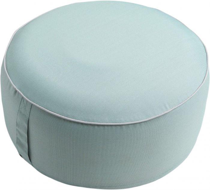 Istuinrahi Puff pyöreä 55 x 25 cm sininen