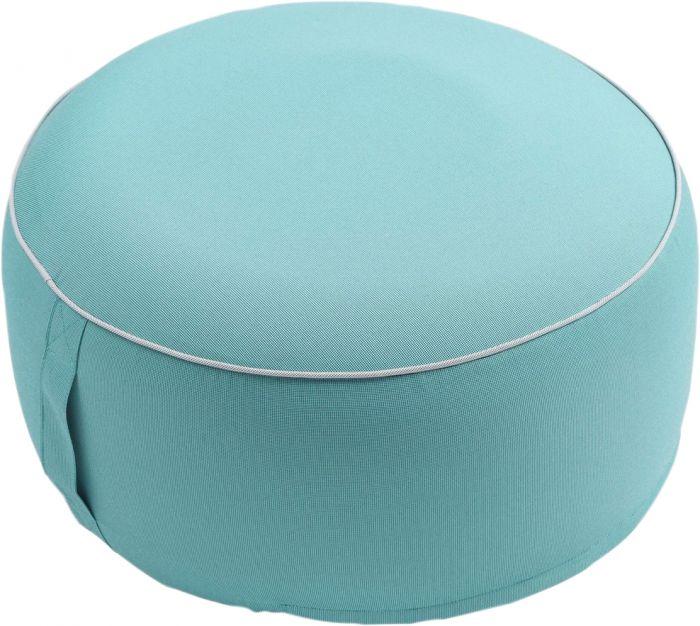 Istuinrahi Puff pyöreä 55 x 25 cm turkoosi