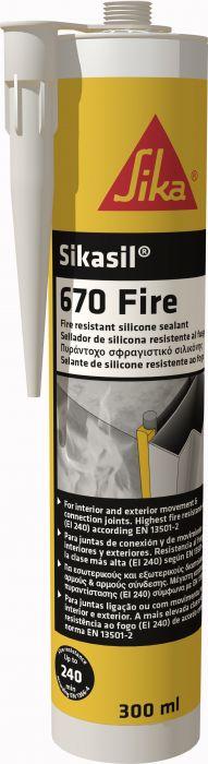 Silikonimassa Sikasil-670 Fire 300 ml Valkoinen