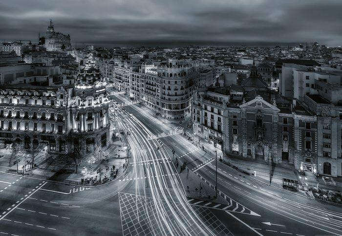 Fototapetti Urban Madrid 4 panelia