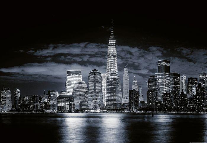 Fototapetti Skyline of Manhattan 4 Paneelia