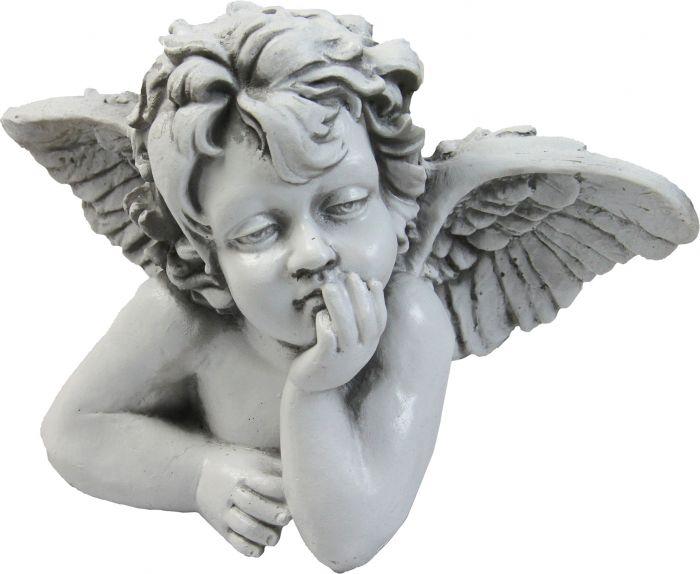 Puutarhapatsas mietiskelevä enkeli