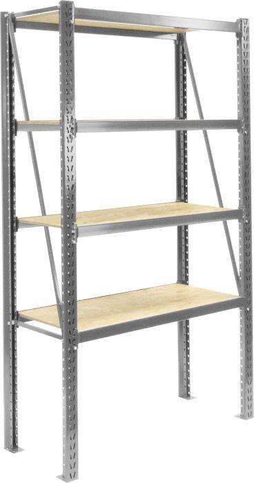 Varastohyllykkö LEO 100 x 200 x 50 cm Alumiini