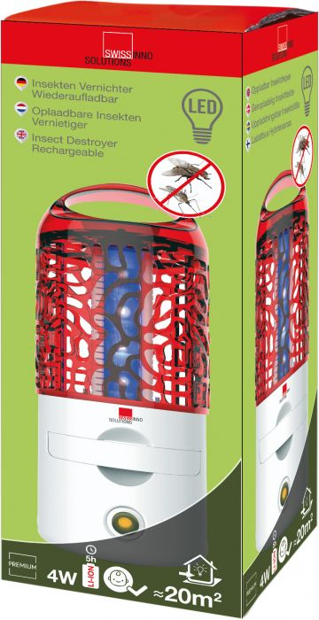 Elektroninen hyönteisansa 4 W LED ladattava