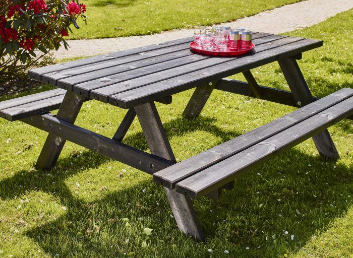 Piknik pöytäsetti musta