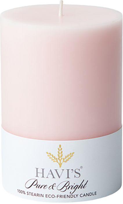Pöytäkynttilä Havi's Pure&Bright 7 x 10 cm roosa