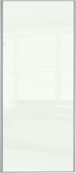 Liukuovi Lundbergs Entry 762 x 2301 mm Valkoinen lasi