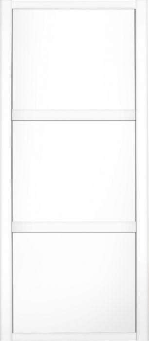 Liukuovi Lundbergs Nordic 762 x 2301 mm Valkoinen 3-peilinen
