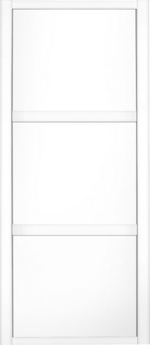 Liukuovi Lundbergs Nordic 914 x 2301 mm Valkoinen 3-peilinen