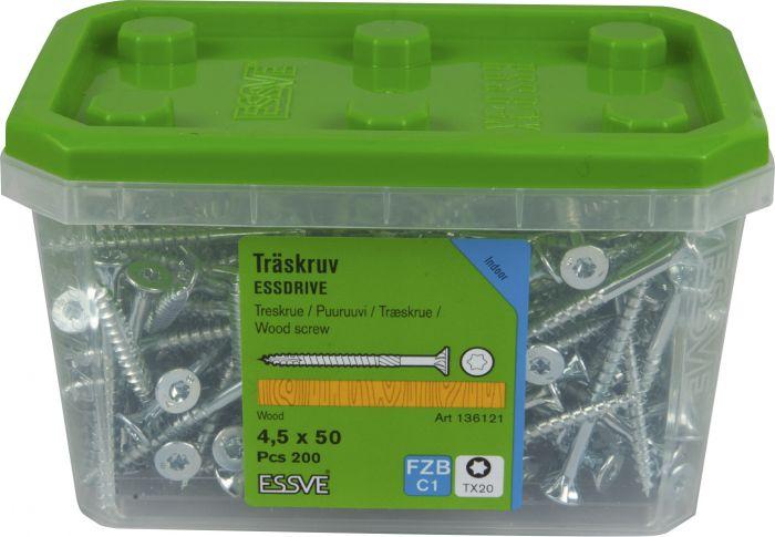 Puuruuvi Essve Essdrive Cut 4,5 x 50 mm UK FZB-200