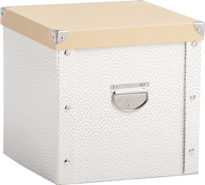 Säilytyslaatikko Zeller Christmas Box Valkoinen/kulta