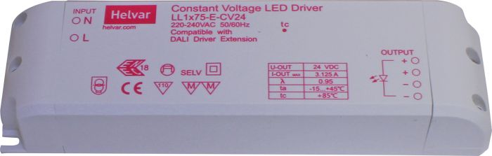LED-tasajännitelähde Cariitti Huuhto 75 W/24 V