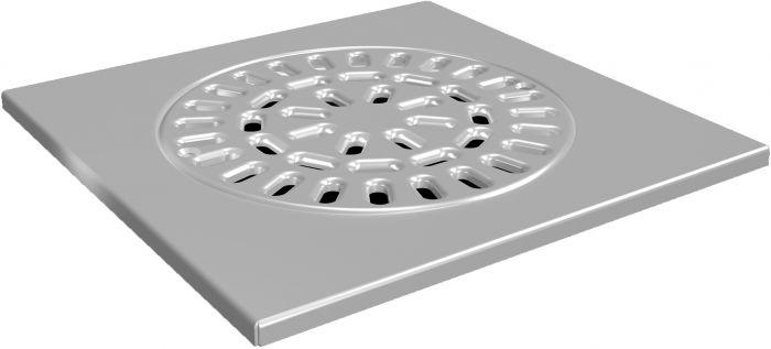 Lattiakaivonkansi Uponor Drain 150 200 x 200 mm RST
