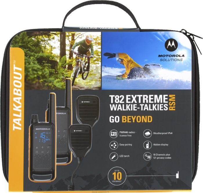 Radiopuhelinpari Motorola Talkabout T82 Extreme RSM Oranssi-musta
