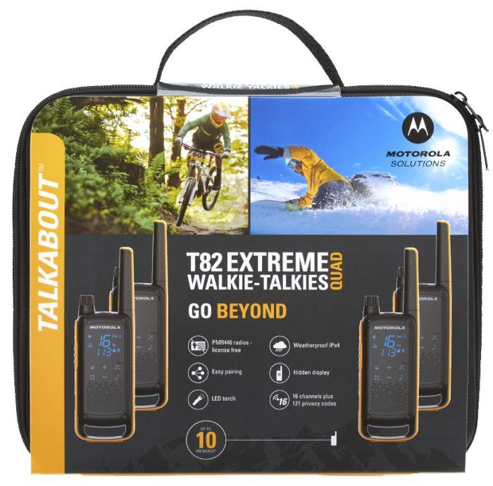 Radiopuhelinsetti Motorola Talkabout T82 Extreme Quad Oranssi-musta