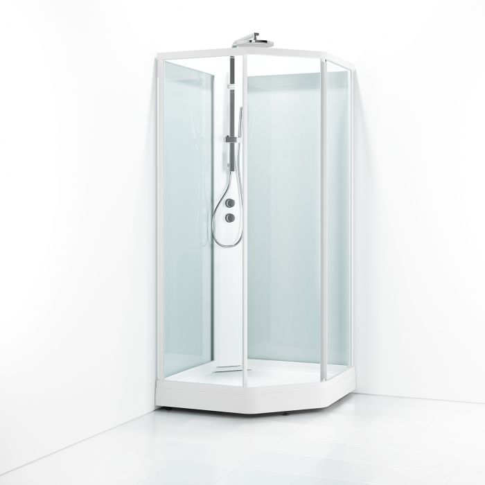 Suihkukaappi Svedbergs Ritual Premium-N valkoinen kirkas