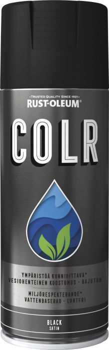 Spraymaali Rust-Oleum COLR 400 ml Satiini Musta
